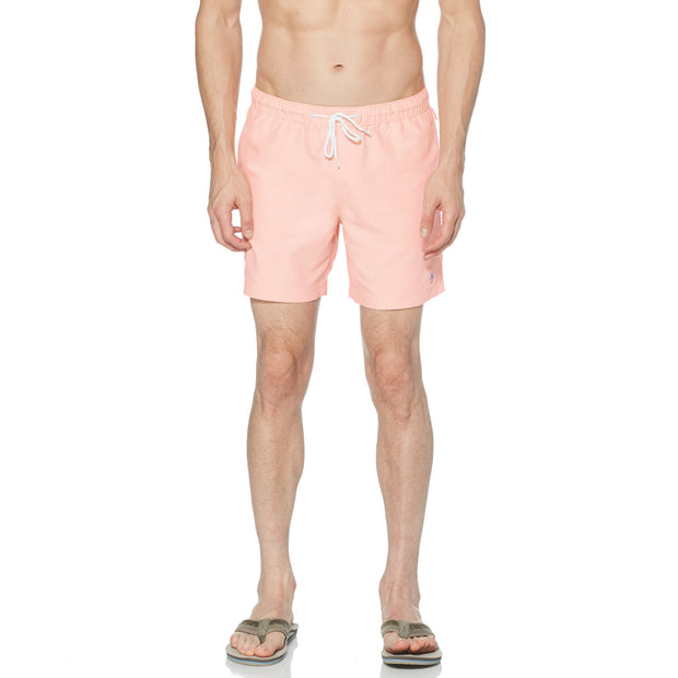 Quick Dry Daddy Swim Shorts In Pink