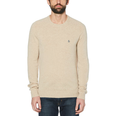 LAMBSWOOL CREW NECK SWEATER IN TURTLEDOVE