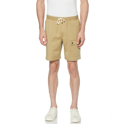 Drawstring Cargo Shorts In Kelp
