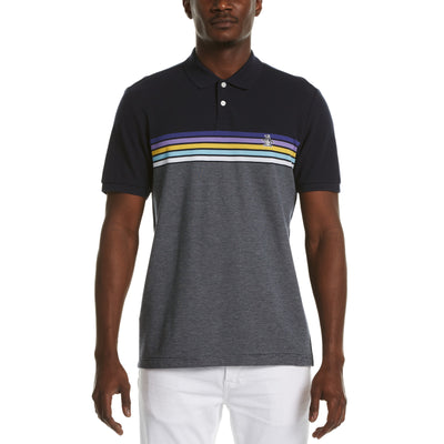 Chest Stripe Polo Shirt In Dark Sapphire