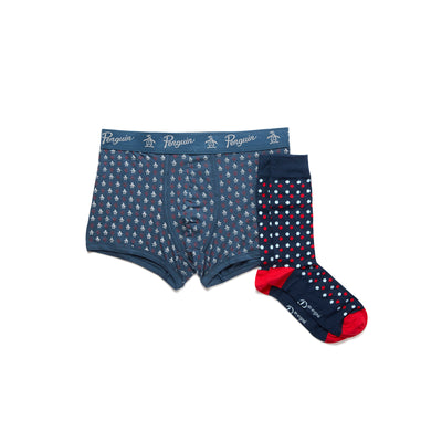 Socks And Underwear Gift Set In Caribbean Sea