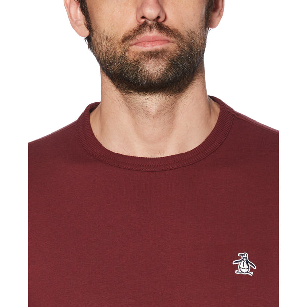 Sticker Pete Fleece Sweatshirt In Tawny Port