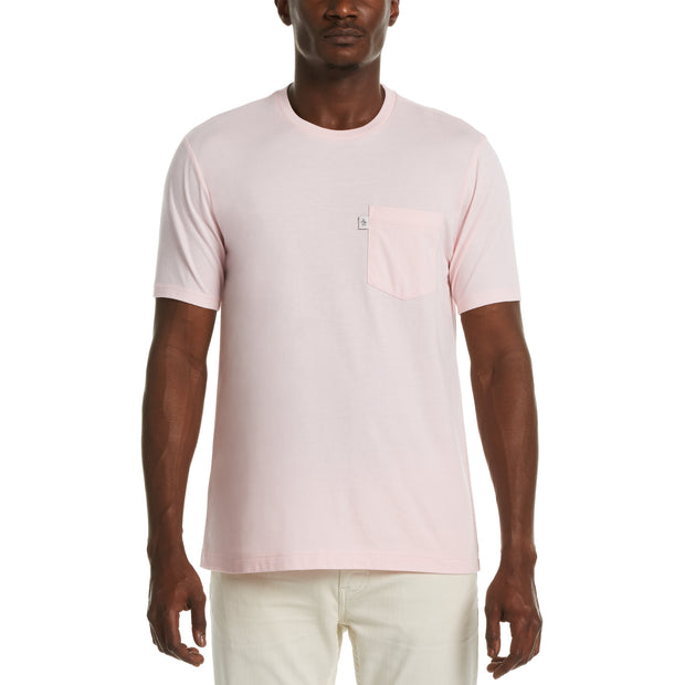 JERSEY POCKET T-SHIRT IN PARFAIT PINK