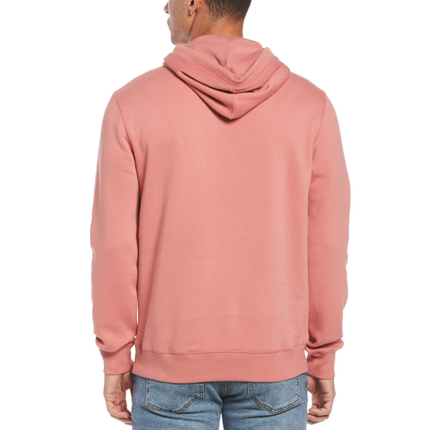 Sticker Pete Fleece Pullover Hoodie In Dusty Rose