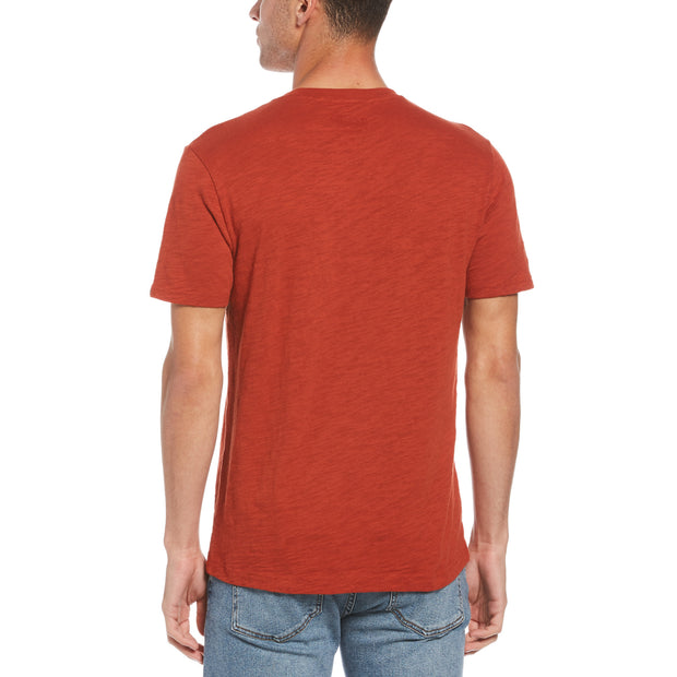 Surf Club T-Shirt In Red Ochre