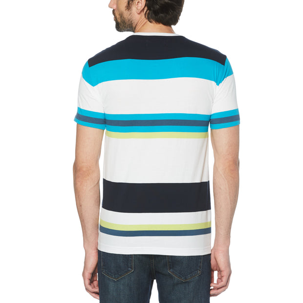 Bold Stripe T-Shirt In Bright White