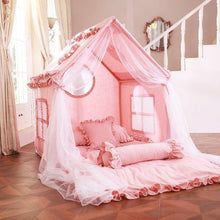 Load image into Gallery viewer, Girl indoor tent pink princess tent with lights and curtains