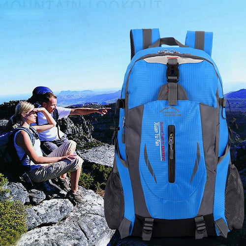 40L Outdoor Travel Backpack Sports Bag Camping Hiking Students Backpack Water Resistant