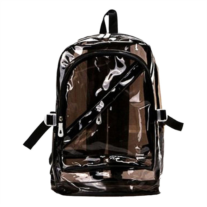 Fashion Transparent Jelly Backpack Cute Shoulder Bag Backpack for Teenage Girls Students Women