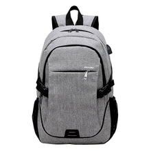 Load image into Gallery viewer, Outdoor Backpack Smart USB Charging Shoulder Bag Oxford Cloth Casual Fashion Business Travling Wearproof Breathable Laptop Computer School Bag