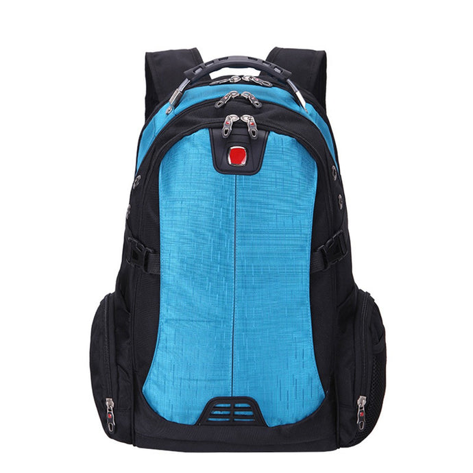 New Multifunction Laptop Bag Backpack External Schoolbag Travel Cyan