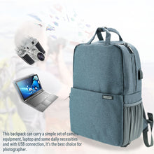 Load image into Gallery viewer, Laptop Backpack Multi-purpose Travel-bag Photography Package Camera Laptop Bag Waterproof Shockproof with USB Connection