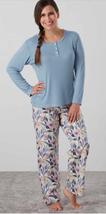 Baksana Georgie Long Pyjama Set w Casual Top