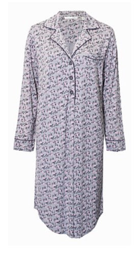 Yuu Long Sleeved Blossom Nightshirt Y380