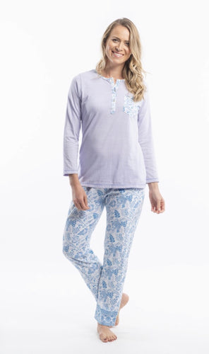 Orientique Victoria's Dreams Jacobean print cotton knit pj's 22522/23k