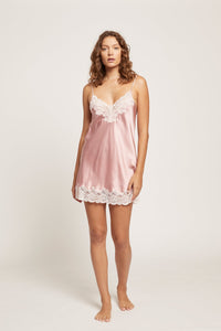 GPM301 Silk Chemise with Lace