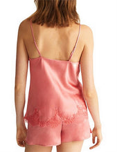 Load image into Gallery viewer, Ginia Chantilly Lace Silk Camisole GCL201