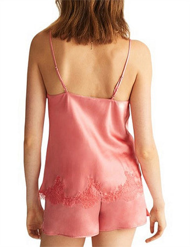 Ginia Chantilly Lace Silk Camisole GCL201