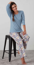Load image into Gallery viewer, Baksana Georgie Long Pyjama Set w Casual Top