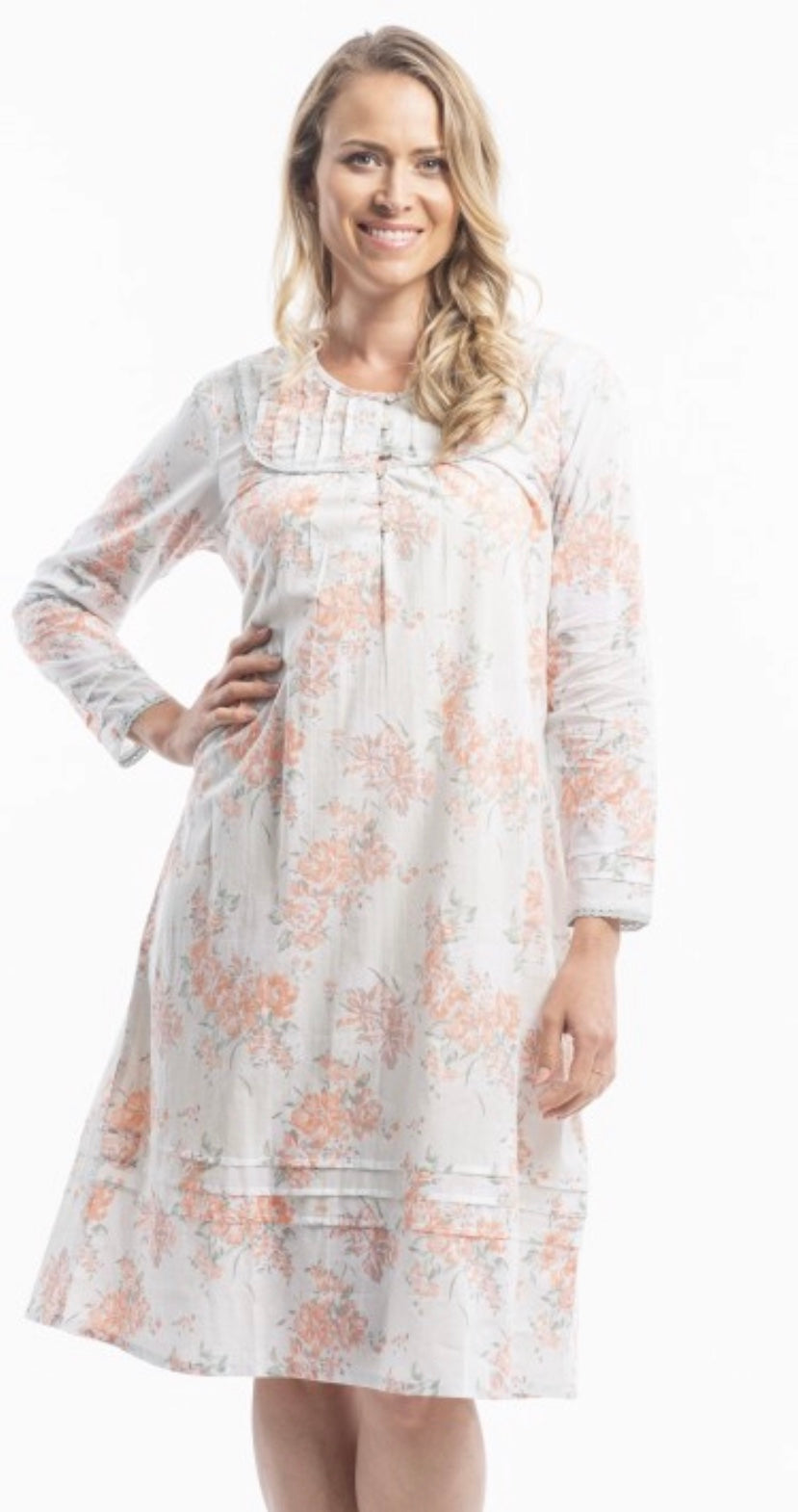 Orientique Victoria's Dreams Orchid print cotton nightie 22530k