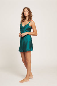 7002 Silk Chemise pintucks and Lace