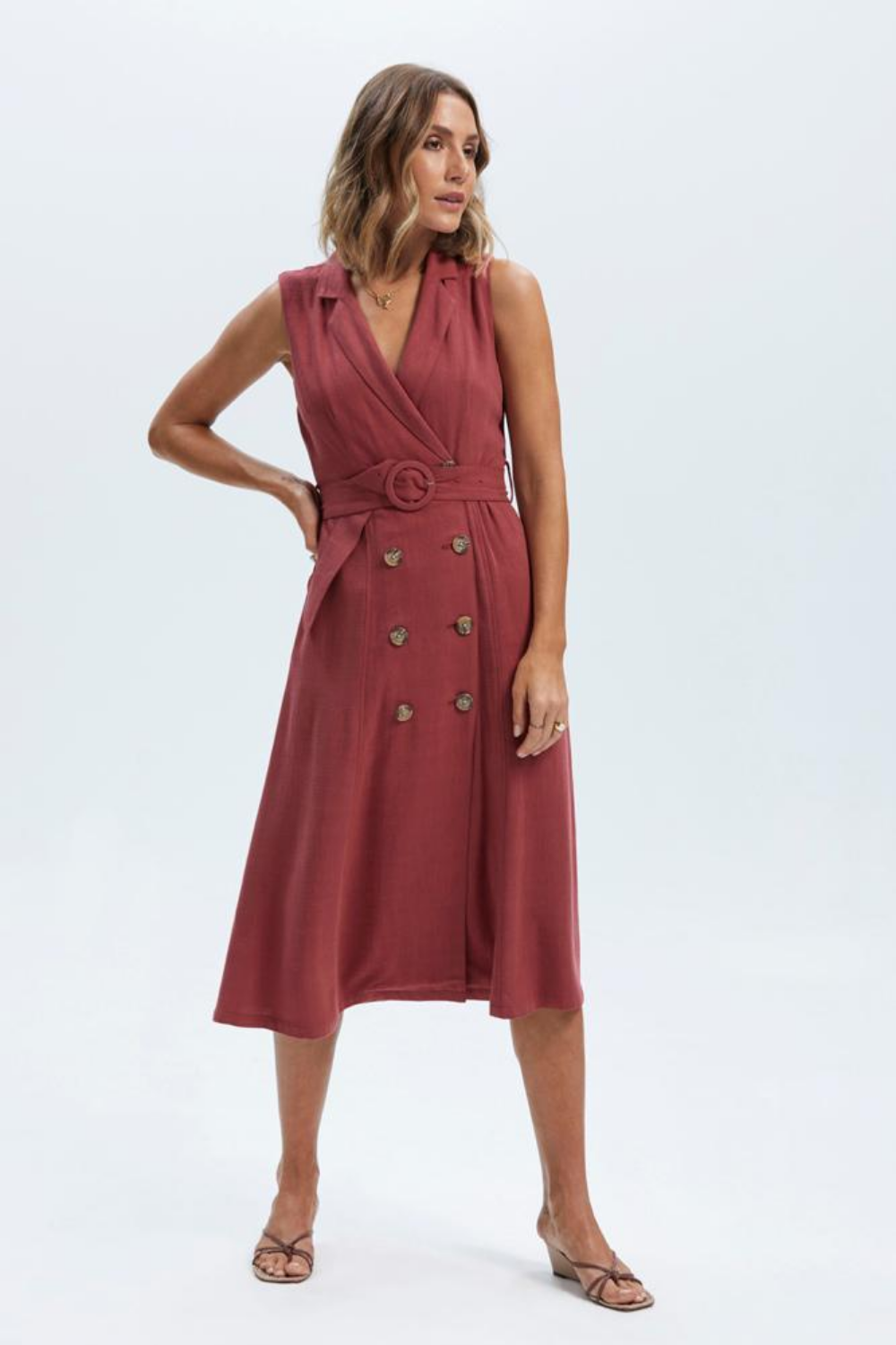 Staple The Label Amara Belted Midi Dress