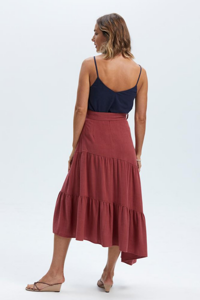Staple The Label Amara Belted Midi Skirt