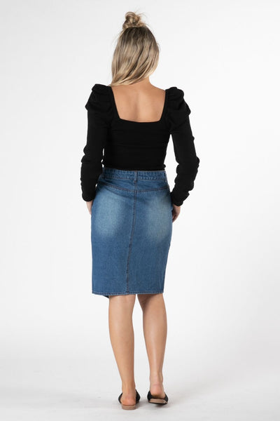 Sass Cacey Denim Skirt
