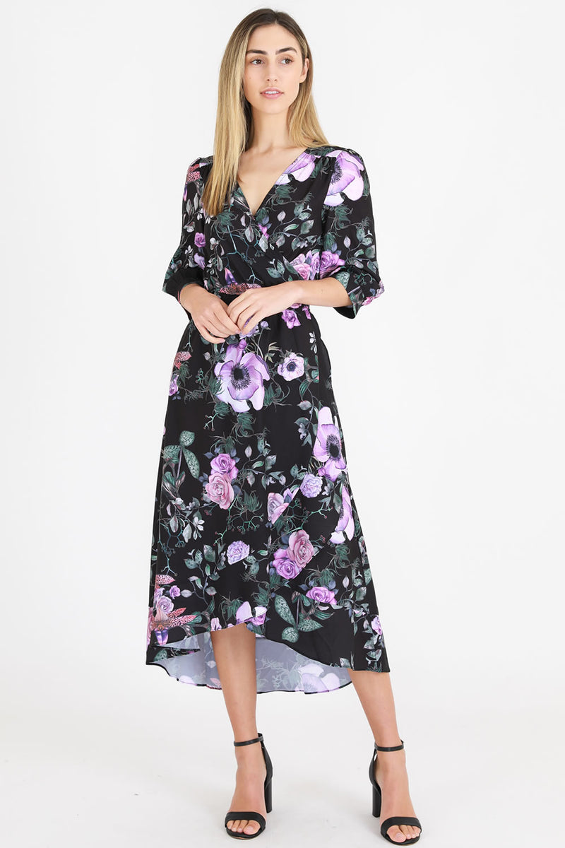 3rd Love Print Wrap Dress