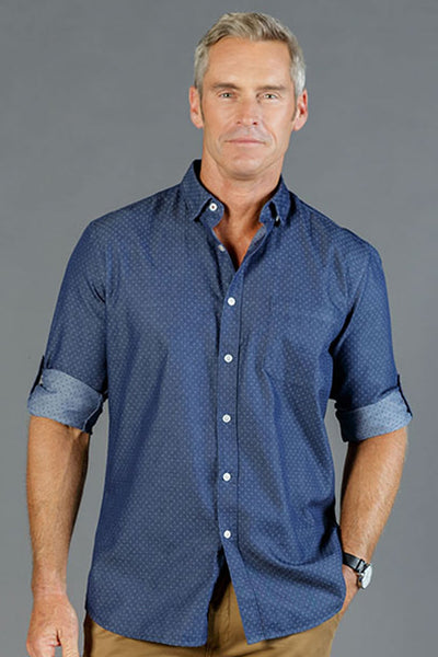 Gloweave Denim Dobby Casual Shirt