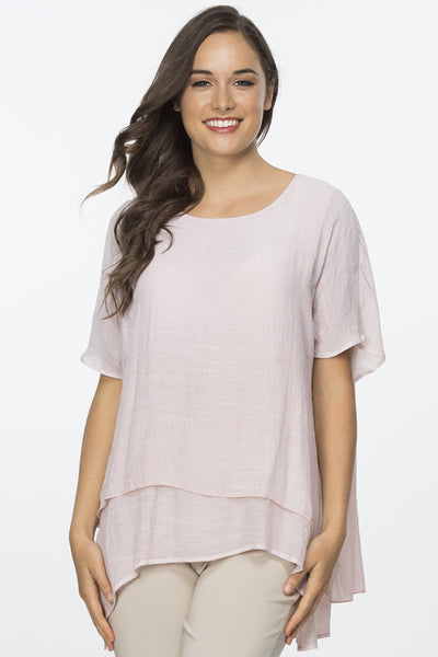 Clarity Layer Crinkle Top