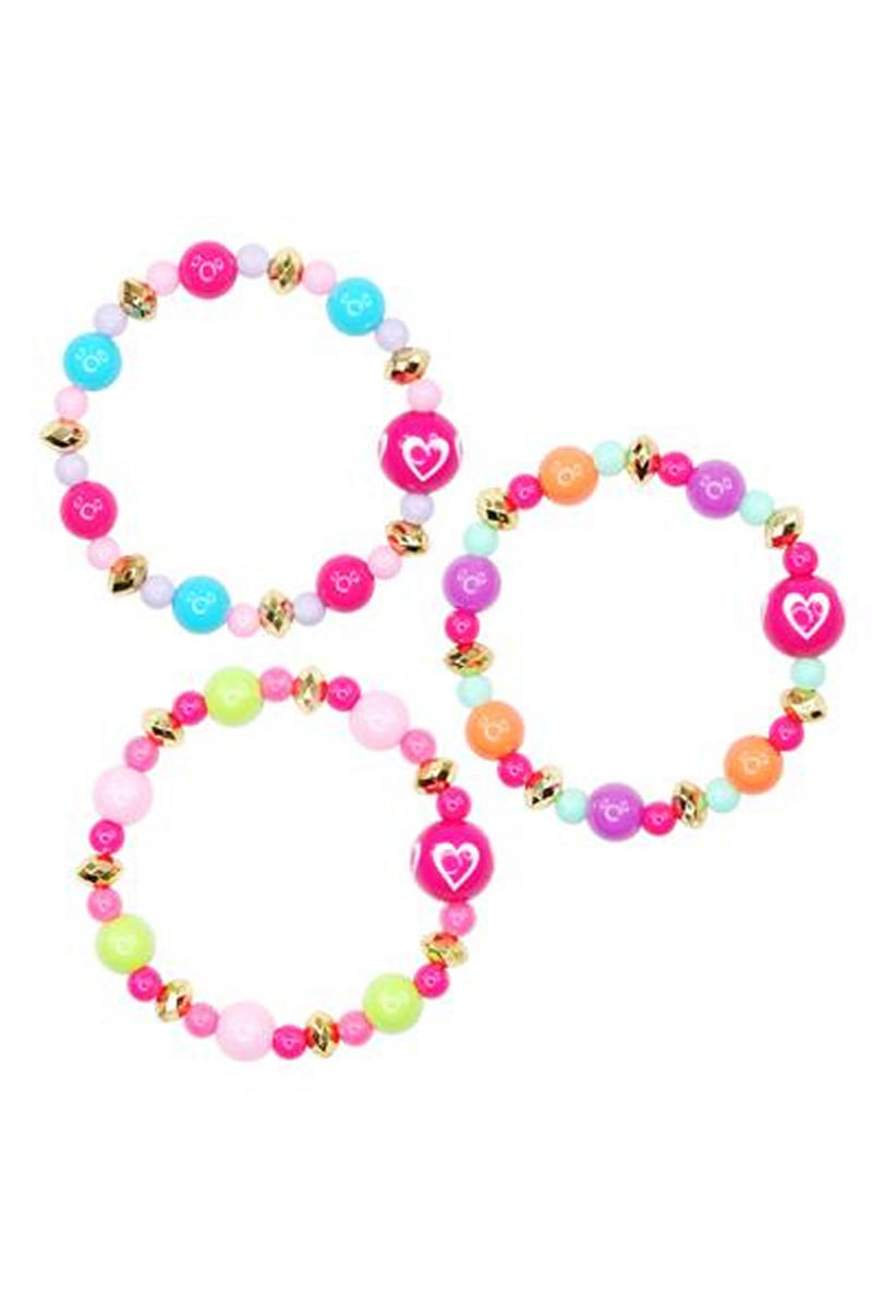 Pink Poppy Fashion Beads Bracelet