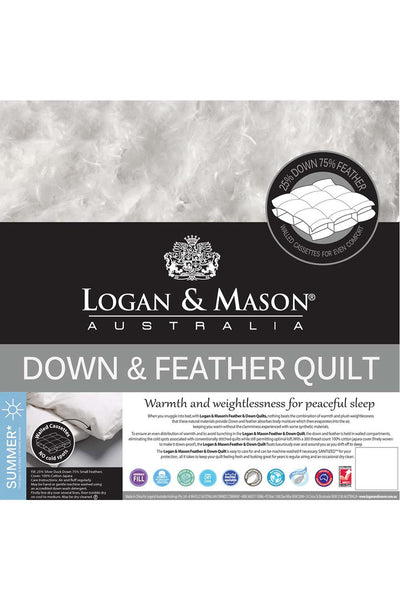Logan and Mason Duck Down Feather Quilt 25/75