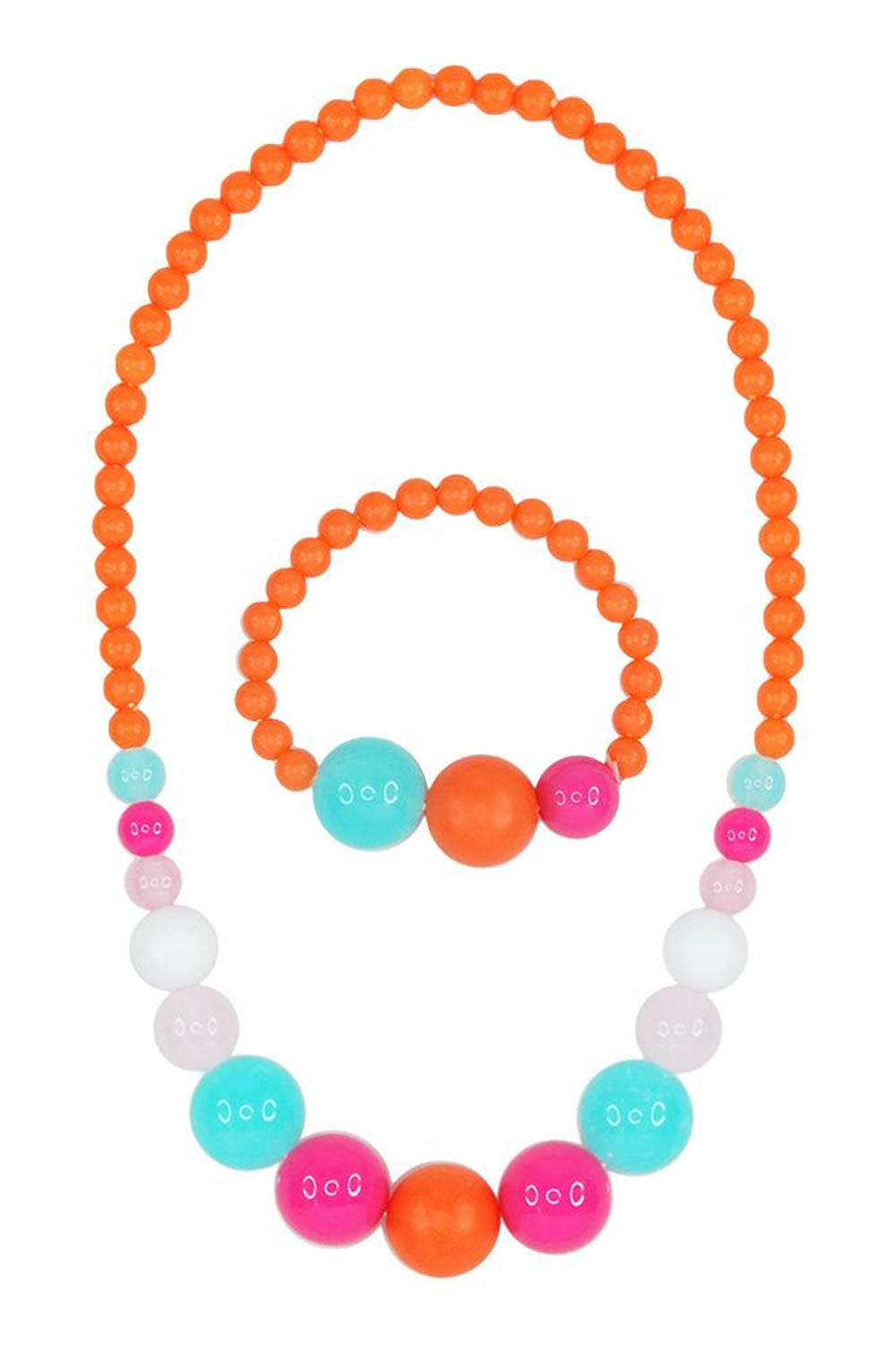 Pink Poppy Calypso Necklace and Bracelet Set