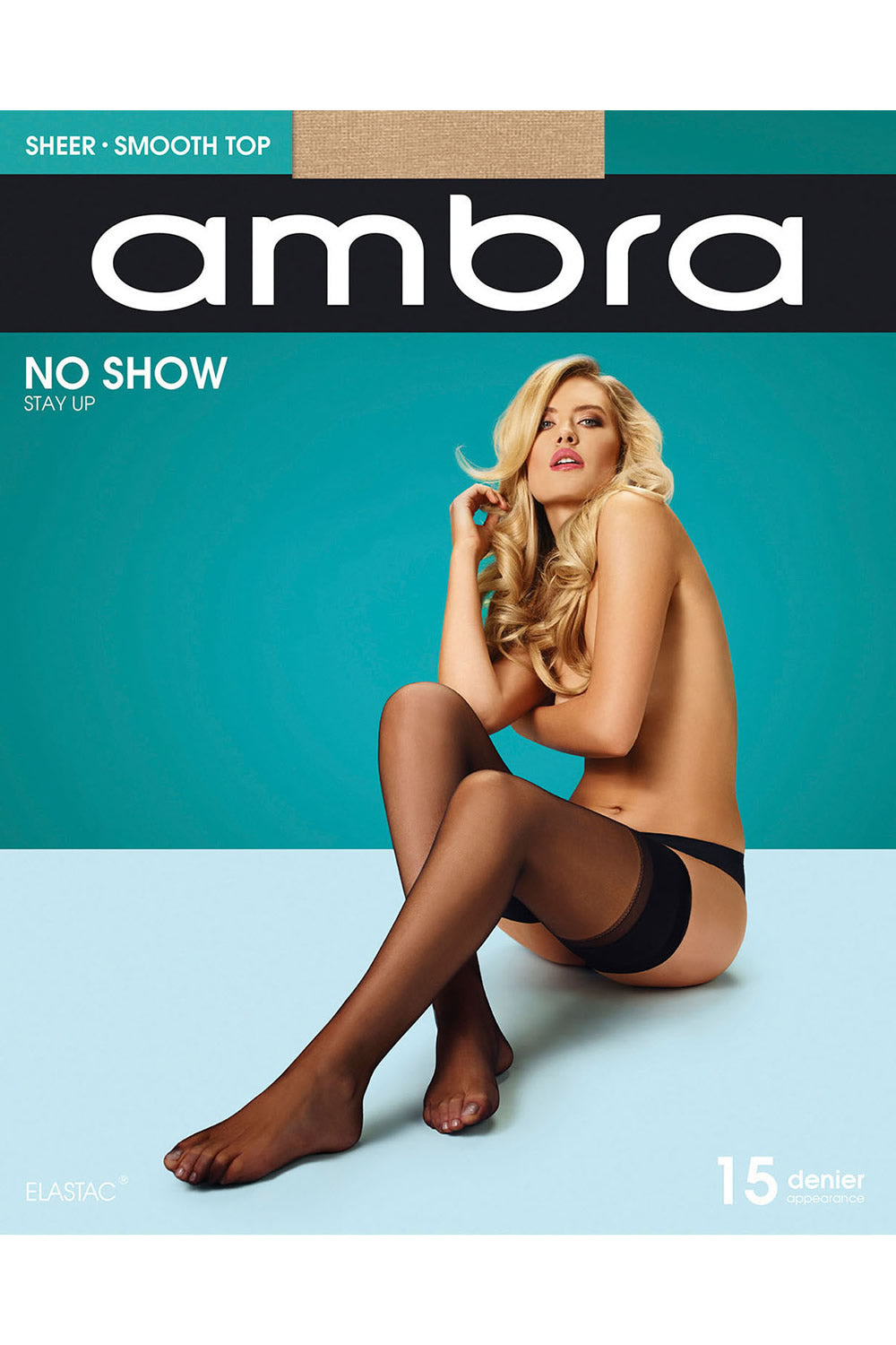 Ambra Sheer Smooth Top No Show Stay Up Pantyhose