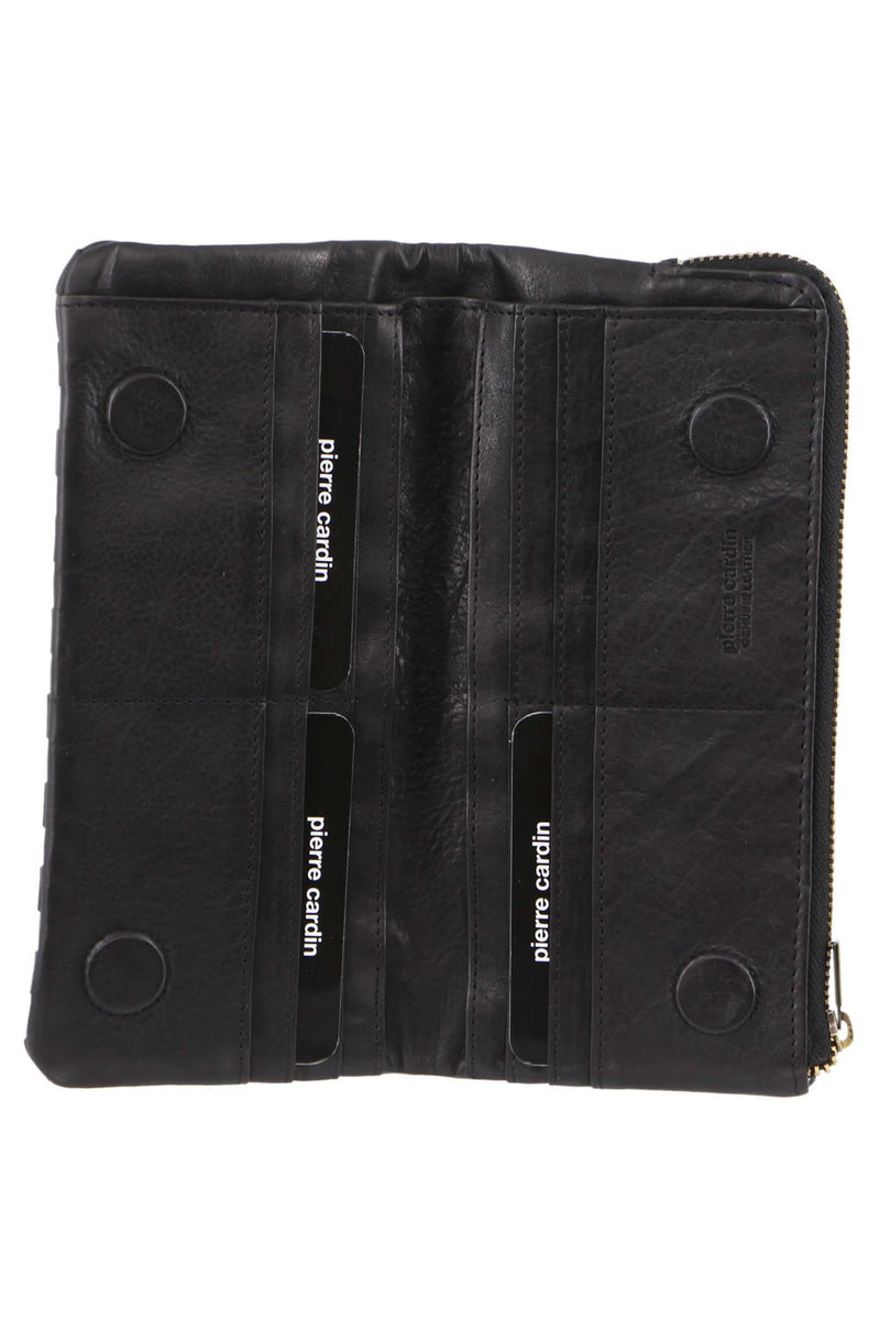Pierre Cardin Woven Leather RFID Wallet