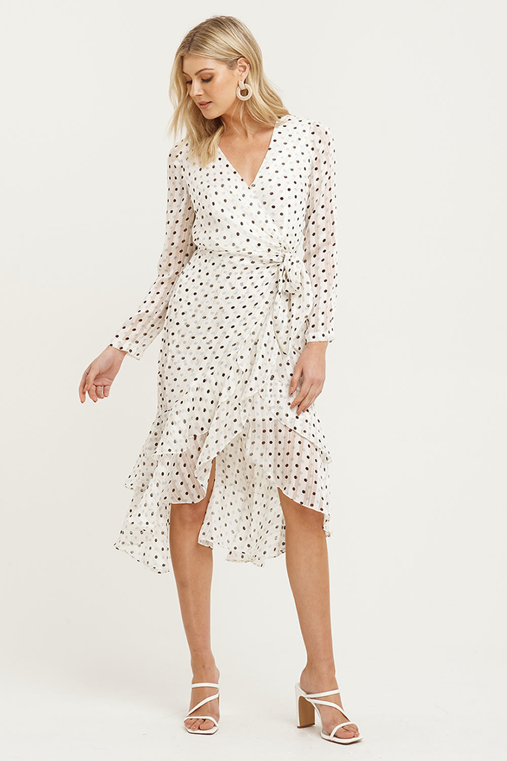 Cooper St Palma Long Sleeve Frill Dress