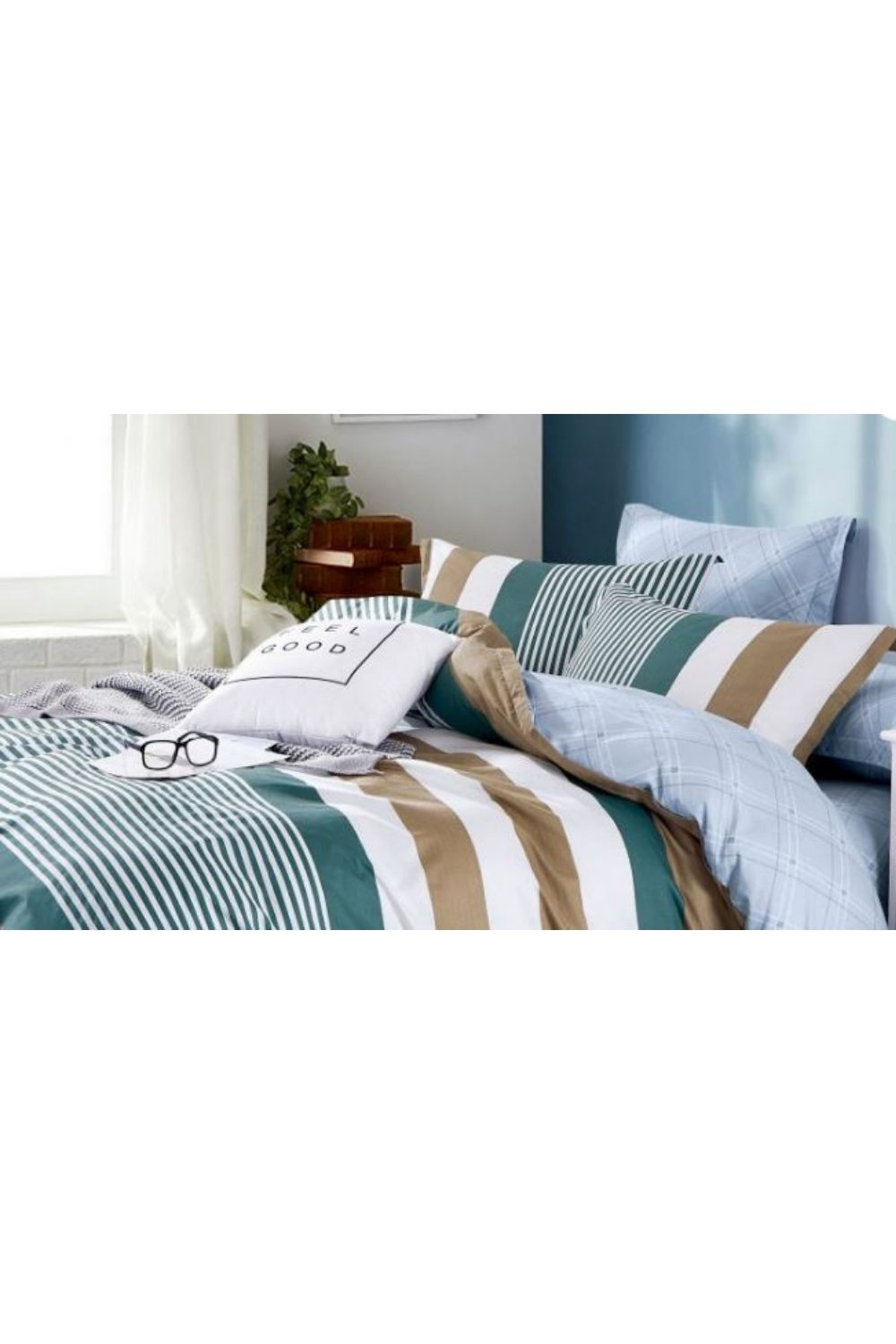 Ardor Jasper Quilt Cover Set- Single