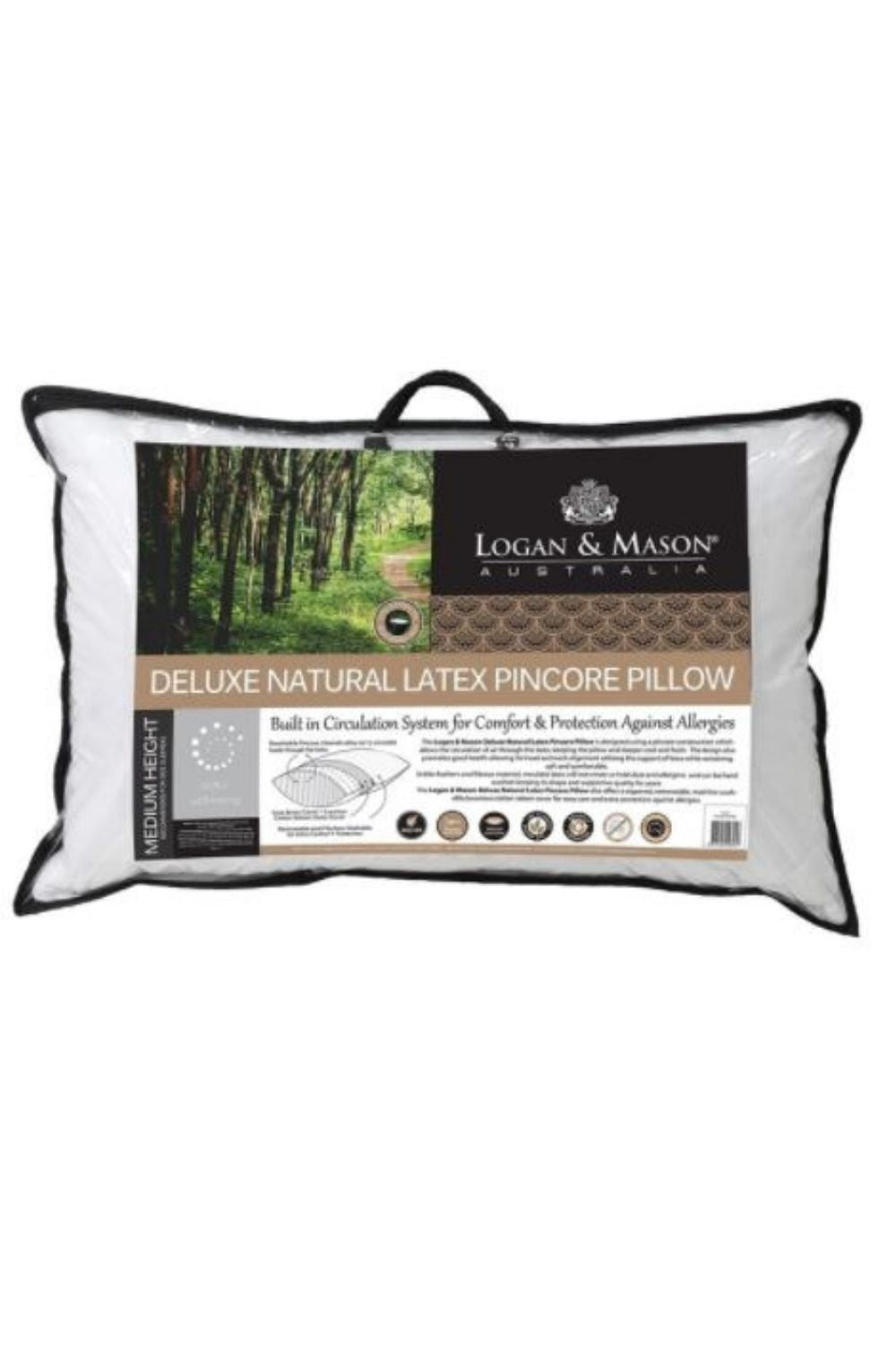 Logan and Mason Deluxe Pure Latex Pincore Pillow