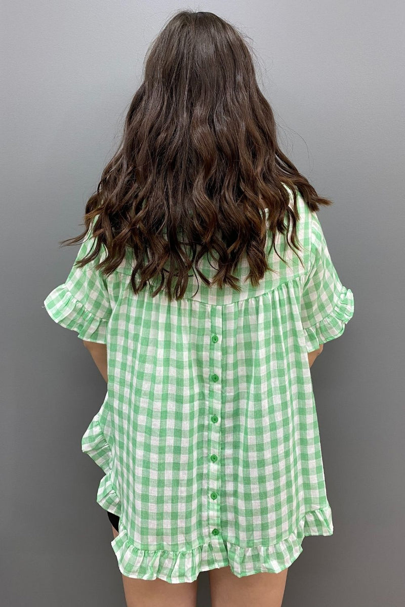 Worthier Button Back Cotton Top