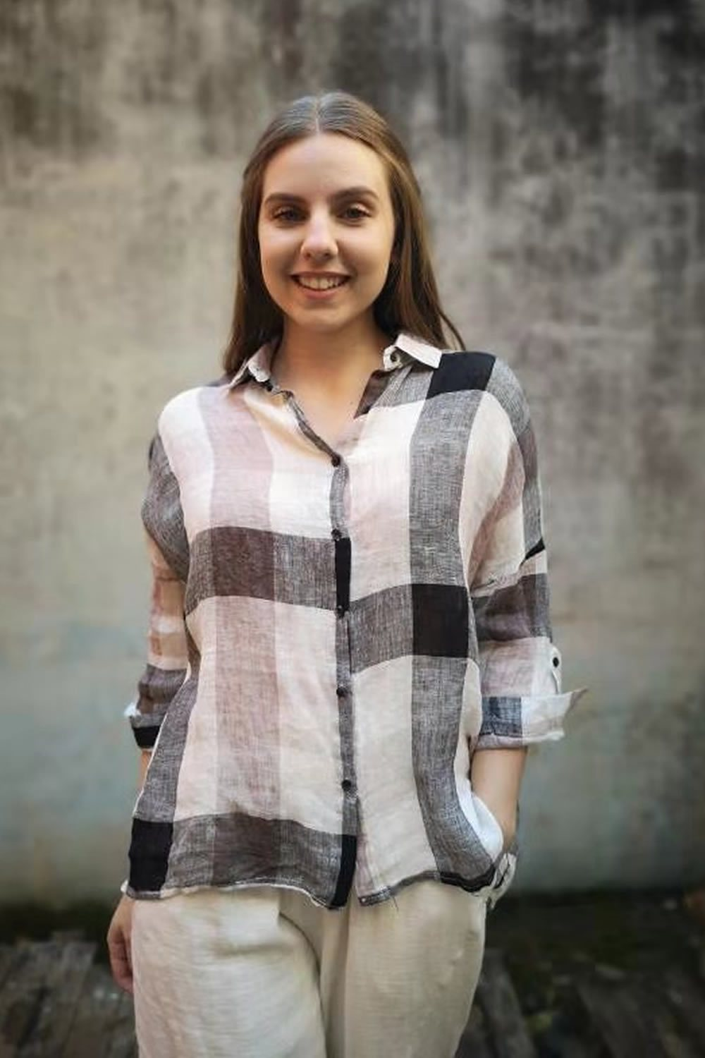 Worthier Linen Checked Shirt