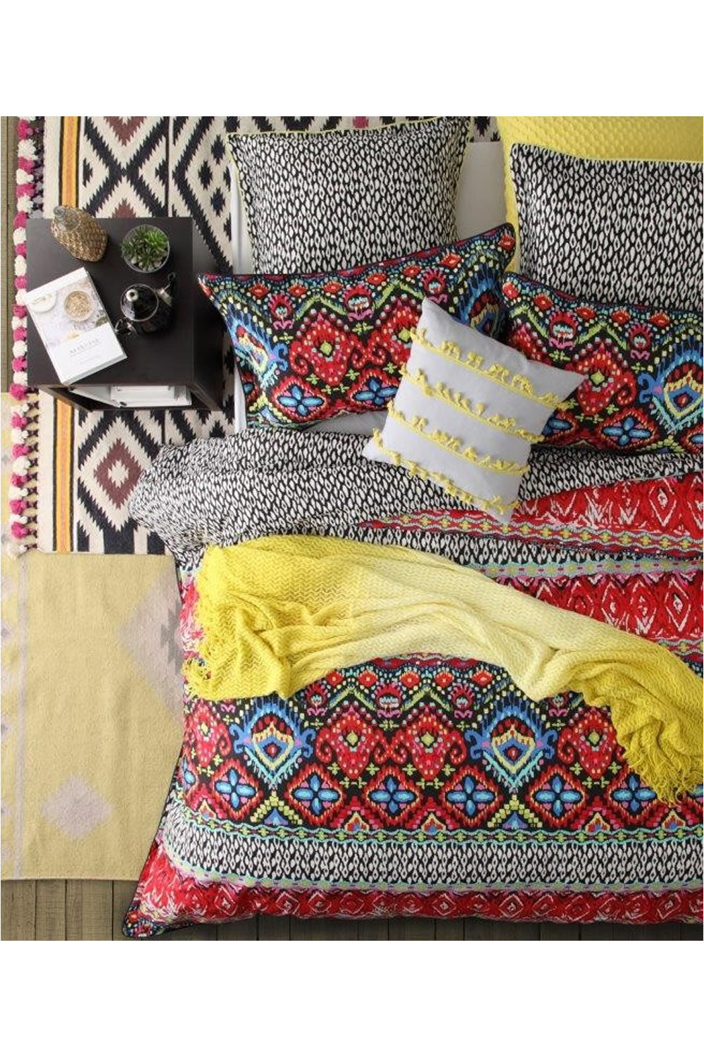 Logan and Mason Chilli Quilt Cover Set