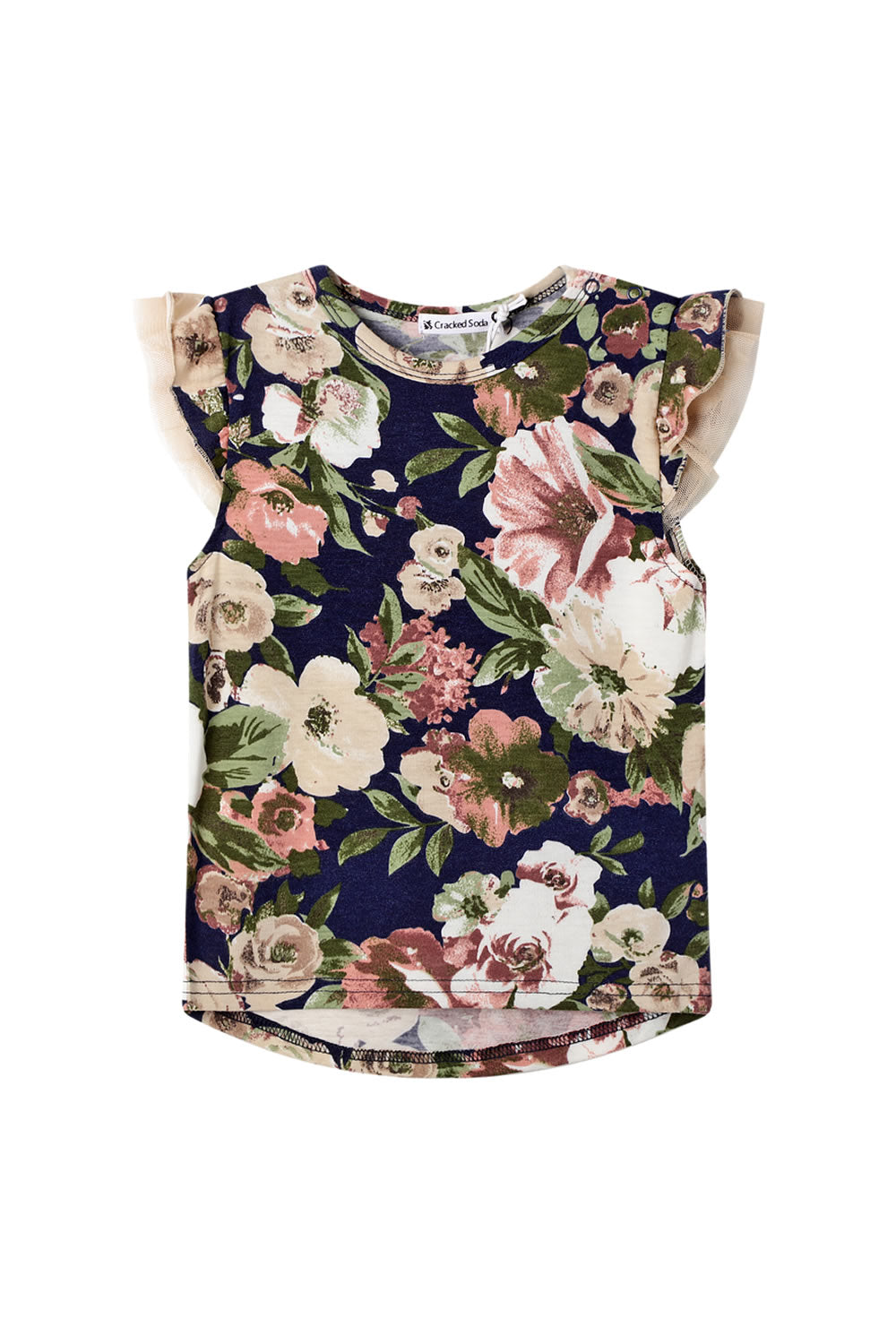 Cracked Soda Floral Frill Top