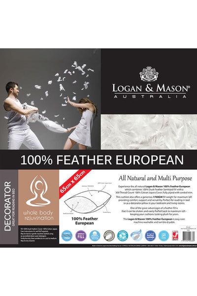 Logan and Mason Feather European Pillow