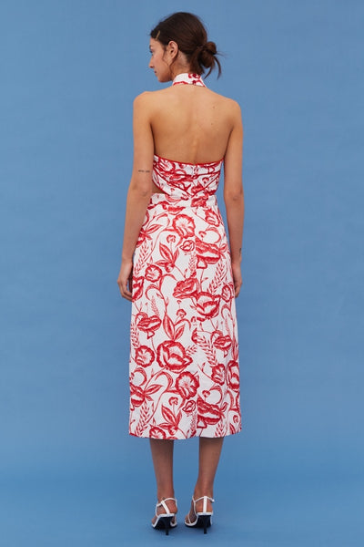 Cameo White Lie Botanic Midi Dress