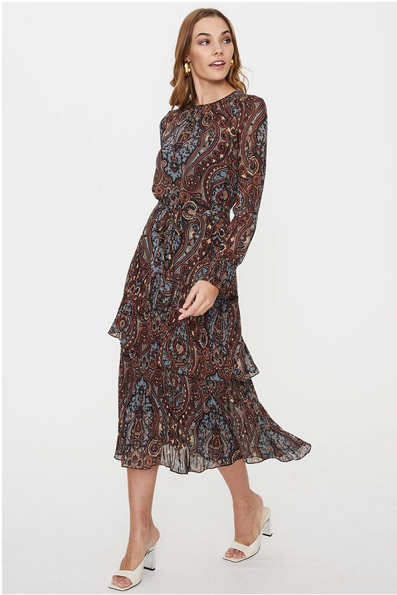 Cooper St Modern Love Long Sleeve Midi Dress