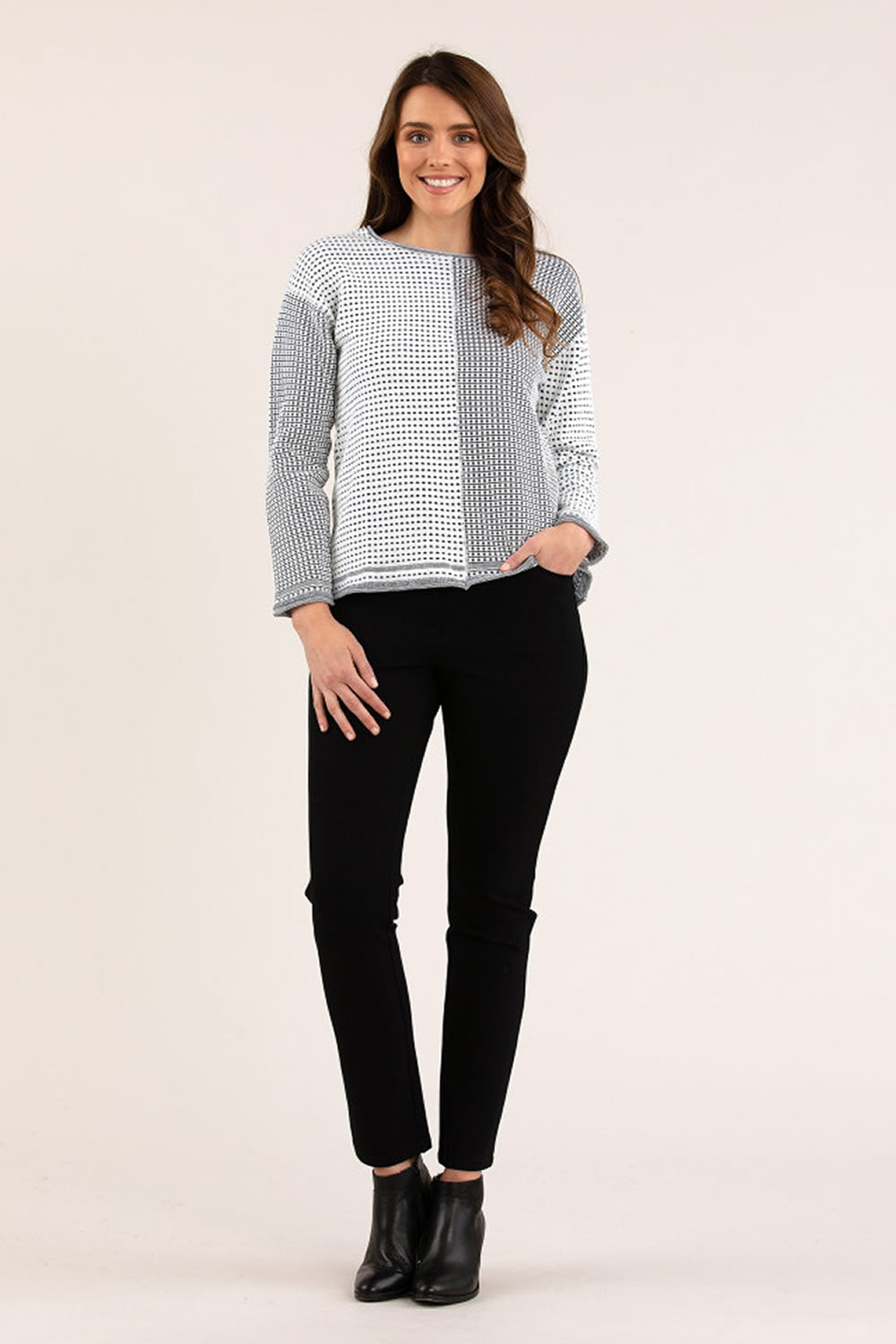 Yarra Trail Spliced Tuck Stitch Knit