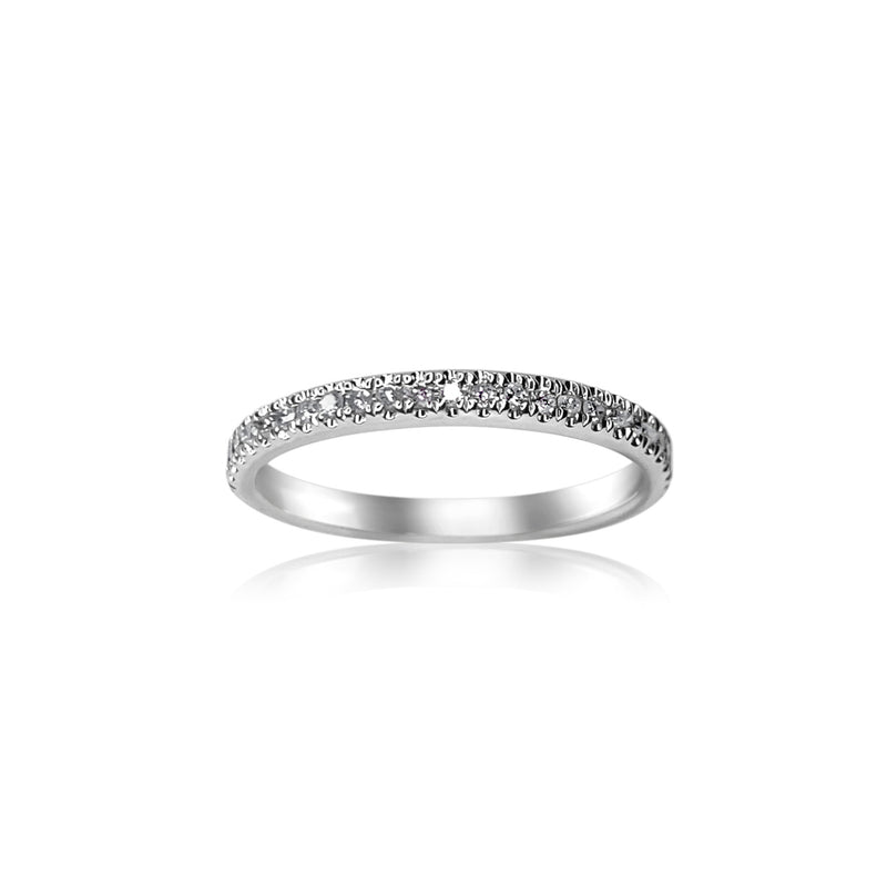 Pavé Diamond Band — .20 Carats in 18k White Gold
