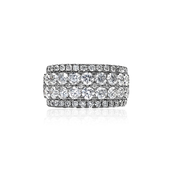 Diamond Statement Ring — 3.07 Carats in 18k White Gold