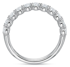 .76 CTW Half-Band Flush-Fit Ring